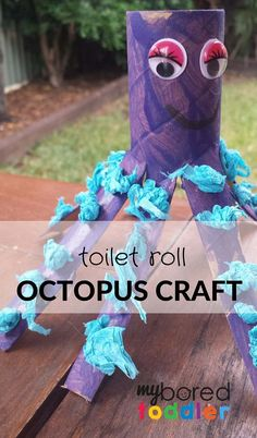Craft Activity Octopus Toilet Roll Craft to go with the book Commotion in the Ocean