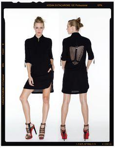 Back detail shift dress
