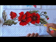 Papoulas Vermelhas em Tecido (Aula 85) - YouTube