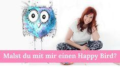 Malen lernen: Dein Happy Bird!