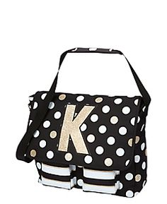 9b55d85cbb Initial Polka Dot Messenger Bag