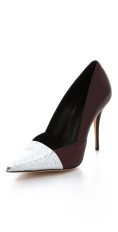 im not much of a pointy toe girl, but these are DIVINE.  Elizabeth and James Sash Snake d'Orsay Pumps $325