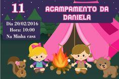 Convite digital personalizado Acampamento 004