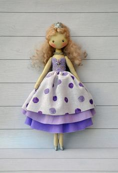SALE Princess dollballerina Doll Textile doll by NilaDolss on Etsy