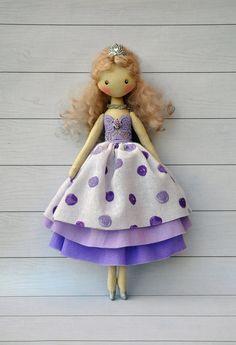 SALE Princess dollballerina Doll Textile doll by NilaDolss on Etsy