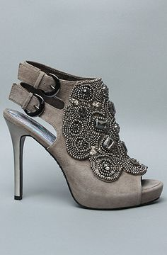 Grey/ embellished heels