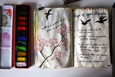 Wreck this journal page of good thoughts NAMASTE