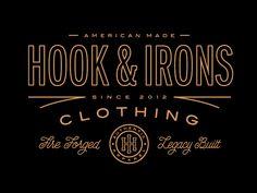 Hook & Irons Clothing by Steve Wolf Label Design, Branding Design, Logo Design, Graphic Design Studios, Graphic Design Typography, Typography Inspiration, Graphic Design Inspiration, Typography Logo, Lettering