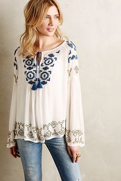 Anthropologie EU Diem Peasant Top, Style No. 7110467655863
