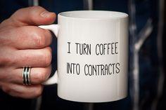 Real Estate Agent Mug Realtor Mug I Turn Coffee por PhotoCeramics  ~ Great pin! For Oahu architectural design visit http://ownerbuiltdesign.com