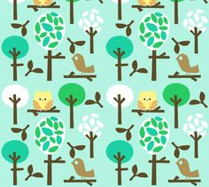 Crib sheet idea: natures forest fabric by emrick123 on Spoonflower - custom fabric