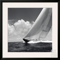 Giclee Print: Rushing Waves II by Michael Kahn : Framed Artwork, Wall Art, Framed Wall, Sailing Regatta, Poster Prints, Art Prints, Cool Posters, Sports Posters, Sports Art