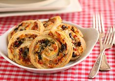 Post image for Three Cheese Stuffed Puff Pastry Pinwheels