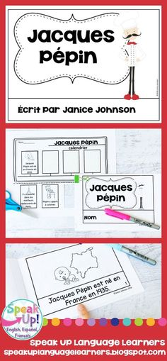 Jacques Pépin French Reader & Timeline {En français} Classroom Board, Classroom Ideas, World Language Classroom, Jacque Pepin, French Classroom, French Resources, Emergent Readers, Dual Language, How To Speak French