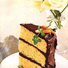 An impressive-looking layer cake with great flavor—and lots of room for candles.