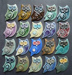 Porcelain owls by RoundRabbit, via Flickr