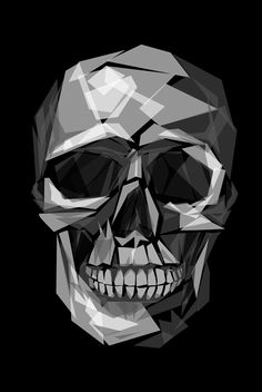 Skull by Joe Conde Skull Artwork, Skull Painting, Skull Island, Art Graphique, Skull And Bones, Geometric Art, Dark Art, Sugar Skull, Pop Art