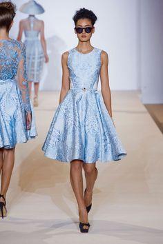 Blue Dress Temperley London Spring 2013 London Fashion Week