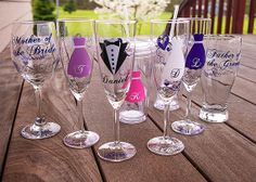 Bridesmaid gift Mother of the Bride Father of by HappyGlassDesigns, $10.98