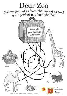 Dear Zoo activity Sheet