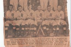 Little grandpa and Uncle John on Bloomfield Ball team 1914  First row seated 3 and 4