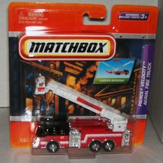 Matchbox Real Working Rigs Pierce Velocity Aerial Fire Truck