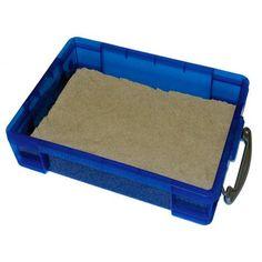 Small 4 Liter Portable Sand Tray, 4.4 lbs of WABA Fun Kinetic Sand Bundle