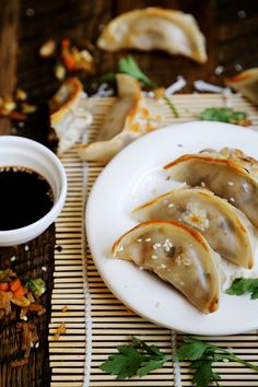 Fried Vegan Dumplings with Bok Choy and Shiitake Mushrooms