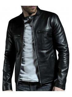 Mens fashion Black leather jacket, Men real leather jackets, Mens leather jacket - Outerwear