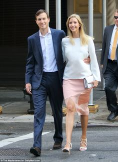 Matchmaker: Wendi helped Ivanka reunite with her now-husband Jared Kushner. The couple are pictured walking to work together in July