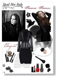 """""""Inspired By Simone Simons #1"""" by gothikyume ❤ liked on Polyvore featuring Balenciaga, Replay, ONLY, SHAN, Le Métier de Beauté, Sephora Collection, shu uemura, Kat Von D, OPI and Lancôme"""