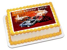 Hot Wheels Edible Birthday Cake Topper OR Cupcake Topper, Decor