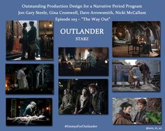 @Variety Emmy voters: Visually stunning @Outlander_Starz for Outstanding Production Design #EmmysForOutlander