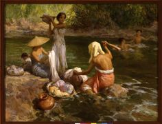 """Fernando Amorsolo y Cueto, Filipino painter, was an important influence on contemporary Filipino art and artists, even beyond the so-called """"Amorsolo school"""". Subjects: Philippine Genre, historical and society Portraits. Filipino Art, Filipino Culture, Italian Colors, Munier, Philippine Art, Philippines Culture, Artists Like, Art Pictures, Art Pics"""