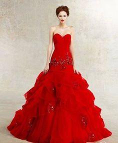 Red wedding dress | Bruiloft | Wedding | Rood