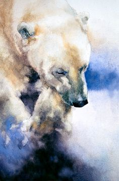 Fine Art Print - Limited Edition - Art Print - Polar Bear - My best shares Bear Watercolor, Watercolor Animals, Watercolor Paintings, Watercolours, Art D'ours, Contemporary Abstract Art, Bear Art, Wildlife Art, Animal Paintings