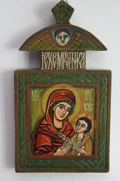 Tempera, Hand Carved, Hand Painted, Byzantine Icons, Hand Lettering, Religion, Angels, Carving, Christian