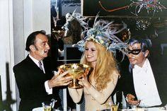 Salvador Dalí, Brigitte Bardot y Gunther Sachs
