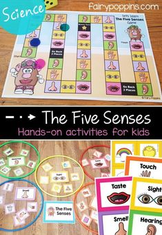 Five Senses Activities For Kids The five senses science worksheets, games and activities – Fairy Poppins Five Senses Kindergarten, Five Senses Preschool, 5 Senses Activities, My Five Senses, Eyfs Activities, Early Learning Activities, Kindergarten Science, Preschool Science, Science Activities