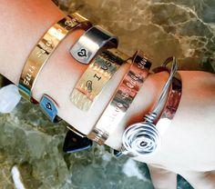 Mantra Hand Stamped Bracelet Custom Stamped by BlueCornerCreasigns