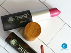 Organic lipstick from The Organic Skin Co review via @agirlsgottaspa