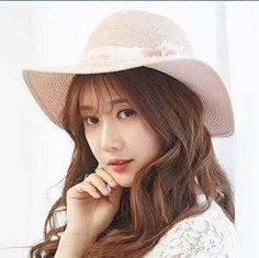 Pink straw sun hats with flower summer UV sun protection hat for women