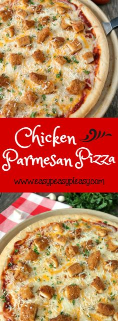 Looking for a twist on a traditional recipe that your kids will love? Check out how I transformed a classic Chicken Parmesan Recipe into a pizza! Cooked Chicken Recipes, Baked Chicken, Crockpot Recipes, Cooking Recipes, Healthy Recipes, Top Recipes, Creamy Chicken, Cooking Tips, White Pizza Recipes