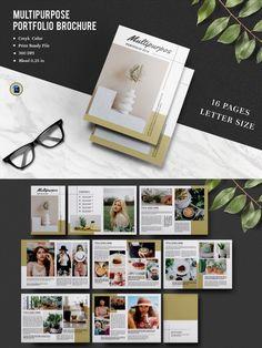 - Size: 11x8.5 In - Pages: 16 - Working file: Photoshop cs2. #portfolio #brochure #magazine Photography Brochure, Photo Folder, Photoshop, Magazine Template, Brochure Template, No Response, Custom Design, Templates, Prints