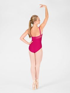 """Free Shipping - """"Flora"""" Adult Sheer Panel Camisole Leotard by WEAR MOI"""