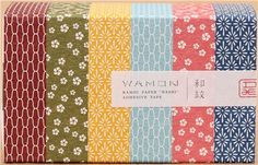 mt Washi Masking Tape Wamon Japan deco tape set 6pcs with patterns 3
