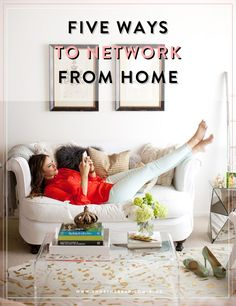 Five ways to network from home: perfect for creative entrepreneurs and freelancers.    The B Bar Lucite Table, Lucite Coffee Tables, Apartment Therapy, Apartment Sofa, Apartment Ideas, Apartment Living, Small Couch, White Loveseat, White Couches