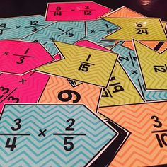 Multiplying Fractions Matching Center