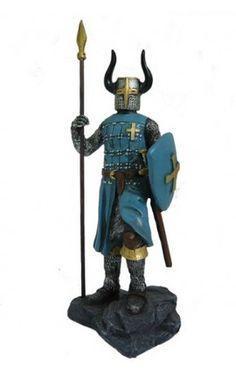 Caballero cruzado azul (20 cm)