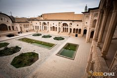 A courtyard of one of the historical houses in Kashan